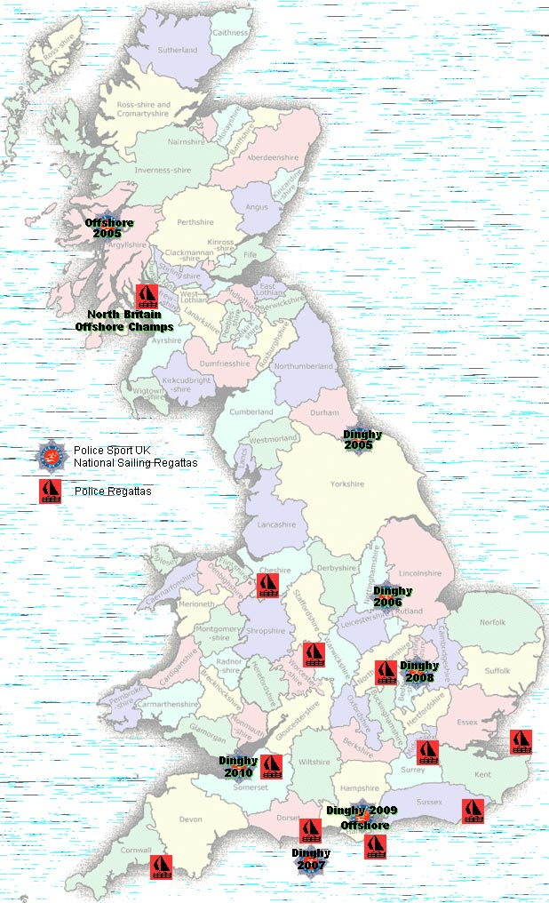 Police regattas throughout the UK